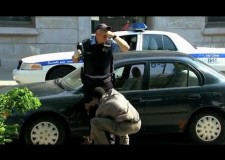 Police officer and breathalyzer prank