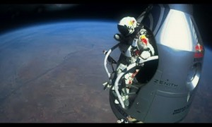 Supersonic stratosphere free fall